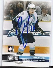 Cameron GAUNCE Signed 09/10 Heroes and Prospects Card