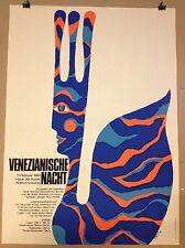 POSTER PLAKAT FASCHING MÜNCHEN 1969 VENEZIANISCHE KUNST HAUS DER KUNST POP ART