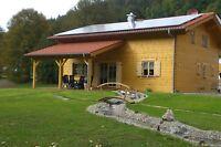 Neues Holzhaus in Bayern, Ferienhaus, Haus für Selbstversorger