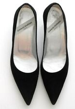 Charles Jourdan Shoes Black Suede 56180 F Size 6 M Made In Paris France