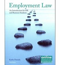 Employment Law: An Introduction for HR and Business Students by Daniels, Kathy