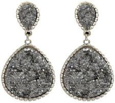 Silver Strike Jewelry Womens Earrings Hematite Teardrops Post E3192