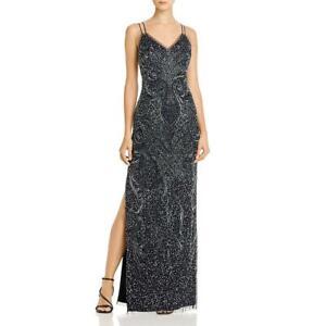 Aidan Mattox Womens Beaded Strappy Formal Evening Dress Gown BHFO 9560