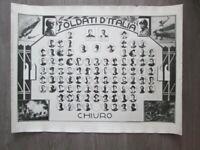 Foto su cartoncino con i soldati d'Italia di Chiuro.
