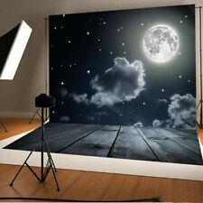 5x7ft Full Moon Sky Photography Backdrops Newborn Baby Studio Props Lighting Kit