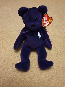 1st Edition, Ultra Rare 1997 Ty Beanie Baby Bear Princess Diana - PVC Pellets.