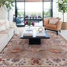 Extra Large Beige Red Blue Grey Floor Rug Traditional Distressed Carpet 240*330