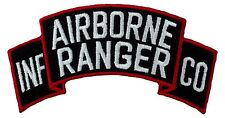 """Airborne Ranger INF CO Scroll Patch (046) 4"""" x 2"""" Embroidered Patch 15703"""