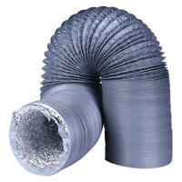 8m Aluminum Foil Duct Hose Ventilation Flex Air Pipe Exhaust Inline Fan Filter