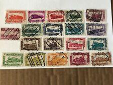 Belgium Railroad Stamps, lot of (19) used