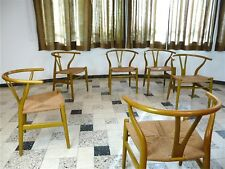 Set 6x Hans Wegner Wishbone Y Chair Carl Hansen Chair Chairs ch24 Denmark 1950s