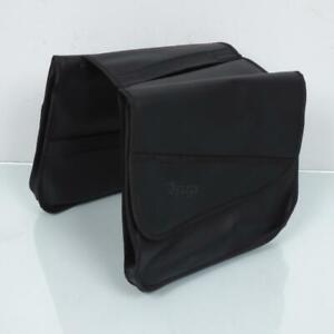 Sacoche cavalières de porte bagage 2 volume noir VELOX pour mobylette vélo