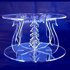 Swan Design Round Cake Separator - Clear