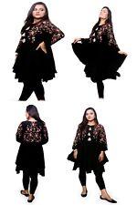 Women Indian Kurta Short Kurti Viscose Full Embroidered Tunic Shirt Kameez Top