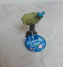 Rustic Leaf Bird Bath Fairy Elf Gnome Garden Enchanted Corner Brand New With Tag
