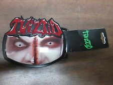Twiztid Red Black Face Metal Belt Buckle NWT 101714ame