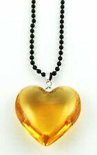 Modeschmuck-Halsketten aus Glas mit Herz-Schliffform