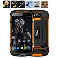 """5"""" Quad Core 4G Smartphone LAND ROVER X2 Waterproof Rugged Cell phone Yellow NEW"""