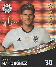 Sammelbild Nr 30 Mario Gomez REWE Glitzer Sticker Fußball EM 2016