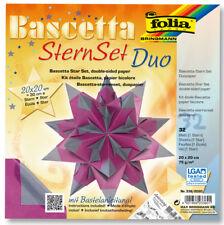 folia Faltblätter Bascetta-stern 150x150 Mm Lila/anthrazit