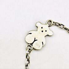 Sterling Silver Charm Bracelet Stamped Tous