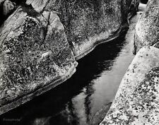 1934/63 Vintage 16x20 Nature ROCK & WATER Stream Sierra Nevada Art ~ ANSEL ADAMS