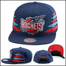 Mitchell & Ness Houston Rockets Snapback Hat Cap Navy/Diamond Side