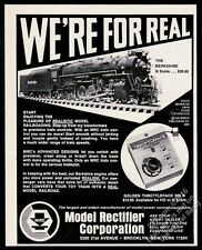 1969 MRC Model Rectifier Berkshire N scale model train photo vintage print ad