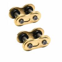 2 Links Gold O-Ring Master Link fit 520V Chain ATV Dirt Bike Scooter 520