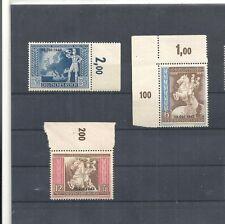 Deutsches Reich, 1942 Michelnummern: 823 - 825 **, postfrisch, Katalogwert € 15