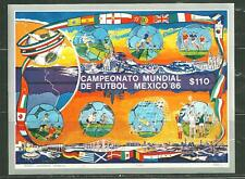 MEXICO 1444 MNH S/S WORLD CUP 86 SCV 6.00