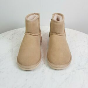 [ SEVEN STEPS ] Womens Suede Leather Boots Shoes / inside wool  | Size 7