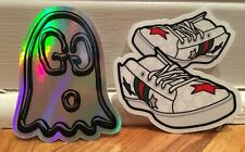 """Lot of """"2"""" - """"Gucci Inspired"""" Decals / Stickers; Ace sneakers; Ghost; Laptop"""