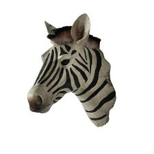 Wall Mounted Animal Zebra Head Sculpture Statue Resin Bar Club Home Decorative