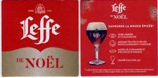 NEW Sous Bock bierdeckel bierviltje  LEFFE DE NOËL 2018 savourez la douce épicée