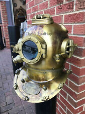 Antique Brass Boston Divers Diving Helmet Scuba Vintage Morse Mark V Deep Sea