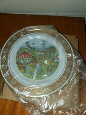 "Franklin Porcelain 1979 Country Fair by Jo Sickbert 8.25"" Decorative Plate"