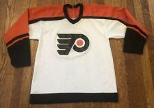 Vintage 80s Philadelphia Flyers 1980s NHL Hockey CCM Sports Jersey Size Medium