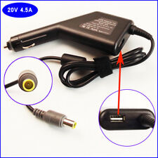 Notebook DC Power Adapter Car Charger +USB for IBM Lenovo Thinkpad T430u T510i