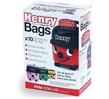 10 x Genuine Numatic HENRY Vacuum Hoover Bags Hetty Cleancare Homecare Hepa Flo