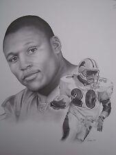 Detroit Lions Star Barry Sanders 20x24 Lithograph art work