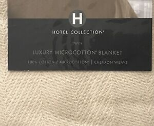 HOTEL COLLECTION TWIN LUXURY MICROCOTTON BLANKET 100% COTTON NIP MSRP $140