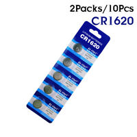 1620 CR1620 ECR1620 DL1620 280-208 5009LC 3V Button Coin Cell Battery 10Pcs D2D