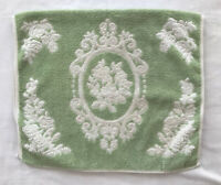 Cannon Royal Family Vintage Hand Towel Green White Flower Cotton USA
