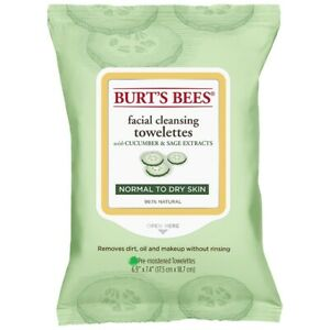 Burt's Bees Facial Cleansing Towelettes 10 Pack Travel Size Pick Cucumber Tea