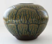 Fantastic Glazed Trees in Forest Modern Studio Art POTTERY Vase Signed Bliss