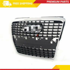 Front Bumper Center Hood Grill Grille Radiator Gloss Black For AUDI A8 D3 05-10