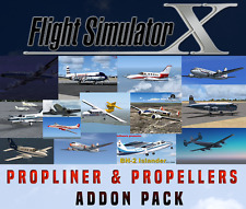 Flight Simulator X FSX Addon Bundle - Propliners & Propeller Aircrafts - 15+ NEW