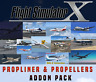 Flight Simulator X FSX Addon Bundle - Propliners & Propeller Aircrafts - 15+ NEW
