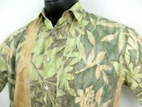 Tori Richard Hawaiian Shirt Men's size Large Made in USA 100% Cotton Lawn